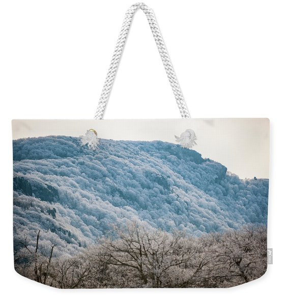 Frost On The Mountain Weekender Tote Bag