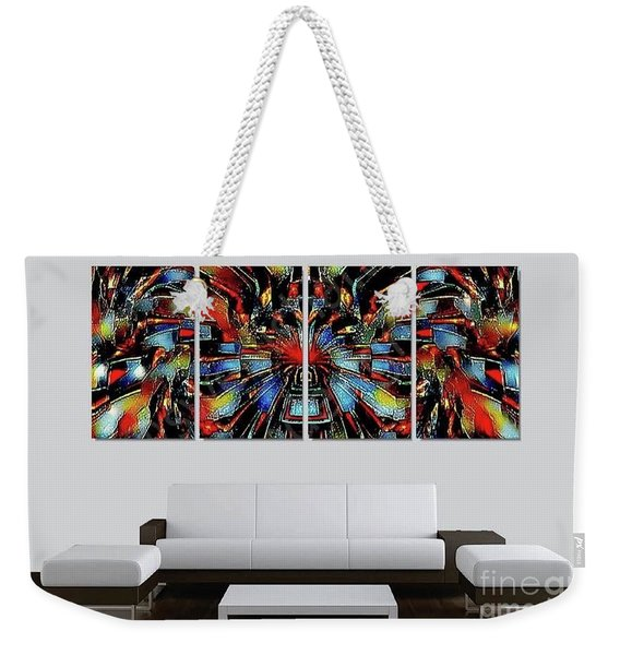 Funny Abstract Overlay Weekender Tote Bag