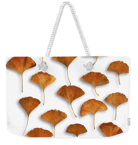 Gingkos Fall Weekender Tote Bag