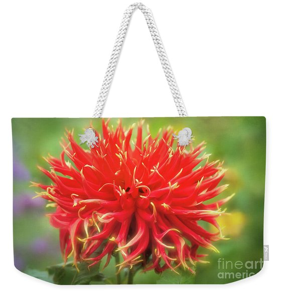Glorious Sho-n-tell Dahlia Weekender Tote Bag
