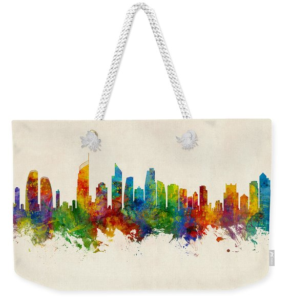 Gold Coast Australia Skyline Weekender Tote Bag