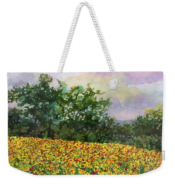 Golden Hillside Weekender Tote Bag