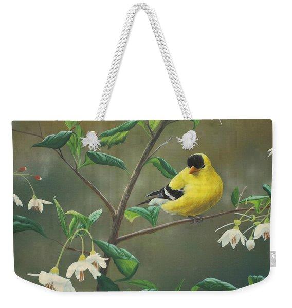 Goldfinch And Snowbells Weekender Tote Bag