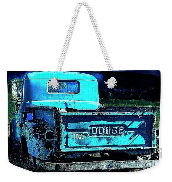 Green Dodge Weekender Tote Bag
