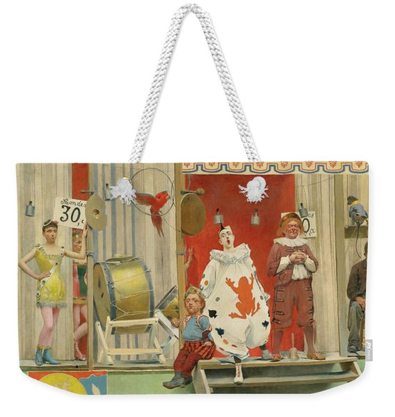 Grimaces And Misery, The Acrobats, 19th Century Weekender Tote Bag