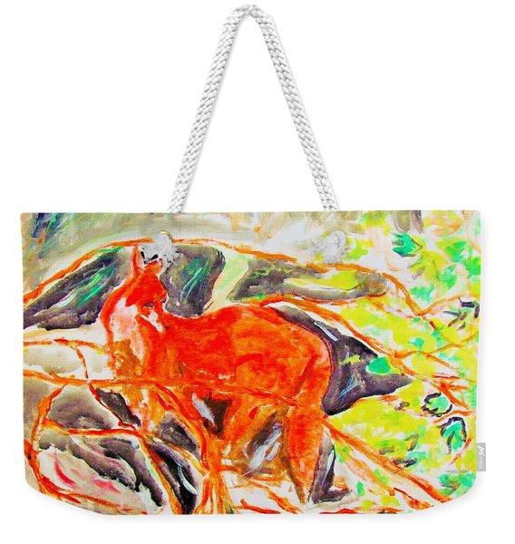 Hidden Fox Weekender Tote Bag