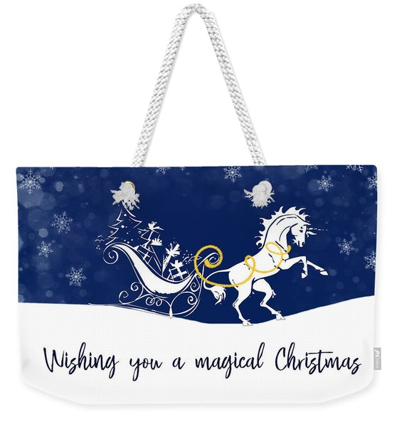 Weekender Tote Bag featuring the photograph Holiday Magic Quote by Jamart Photography