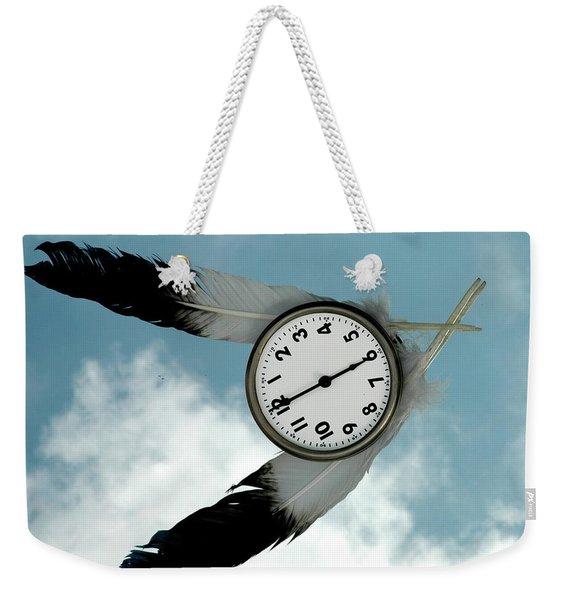 How Time Flies Weekender Tote Bag