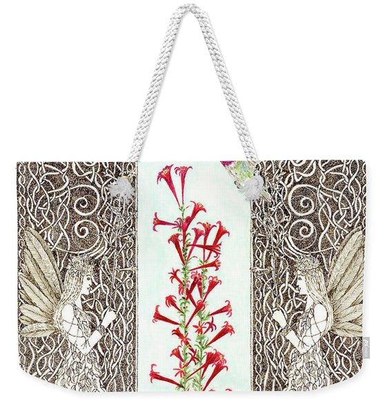 Hummingbird Sanctuary Weekender Tote Bag