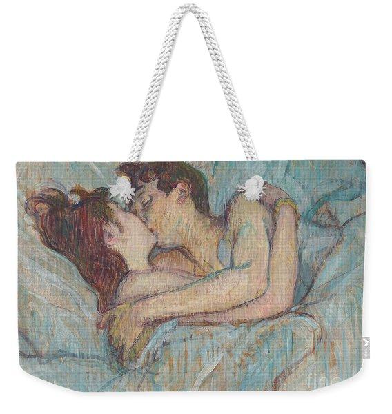 In Bed The Kiss, 1892 Weekender Tote Bag