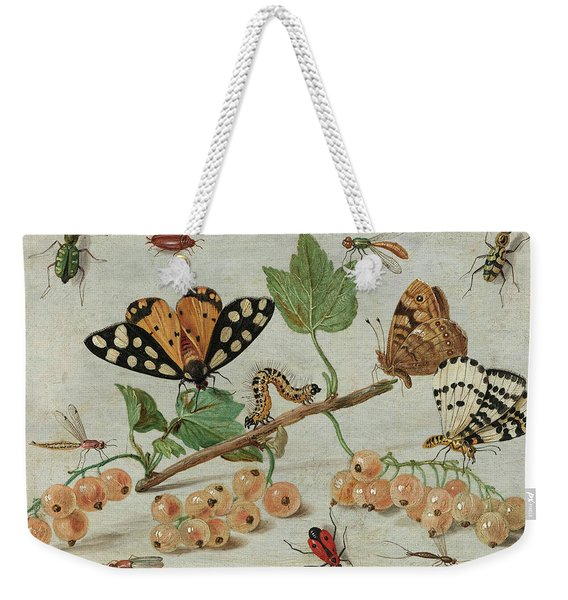 Insects And Fruit, 1665 Weekender Tote Bag
