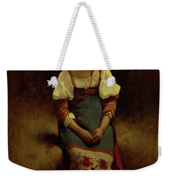 Italian Woman Weekender Tote Bag