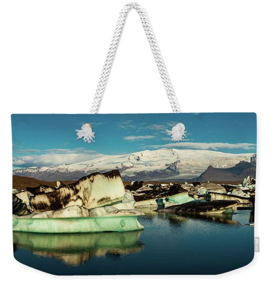 Jokulsarlon Lagoon, Iceland Weekender Tote Bag