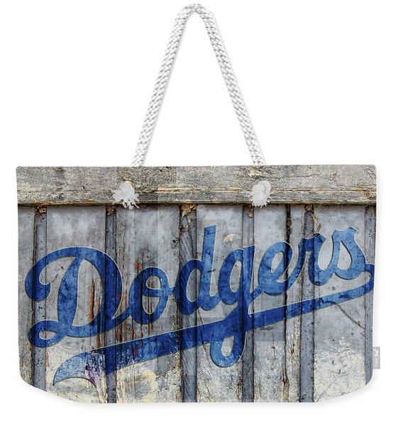La Dodgers Rustic Weekender Tote Bag