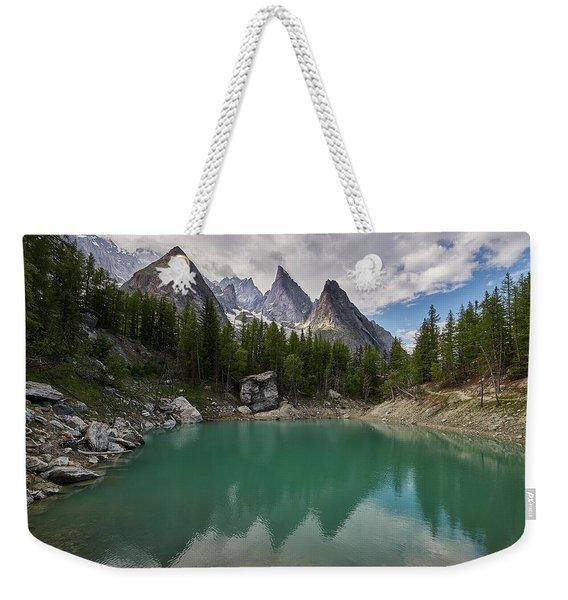 Lake Verde In The Alps Weekender Tote Bag