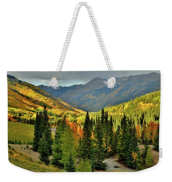 Looking North From Red Mountain Pass Weekender Tote Bag