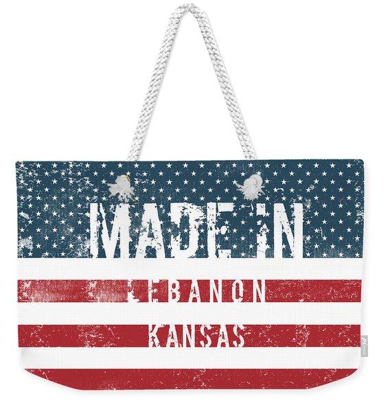Made In Lebanon, Kansas Weekender Tote Bag