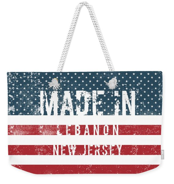 Made In Lebanon, New Jersey Weekender Tote Bag