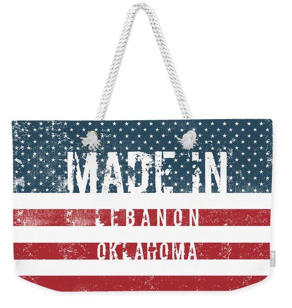 Made In Lebanon, Oklahoma Weekender Tote Bag