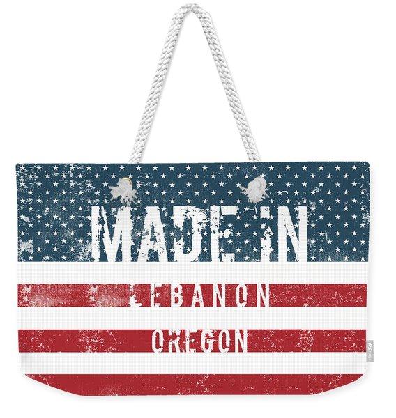 Made In Lebanon, Oregon Weekender Tote Bag