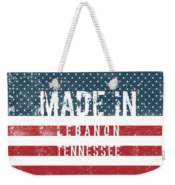 Made In Lebanon, Tennessee Weekender Tote Bag