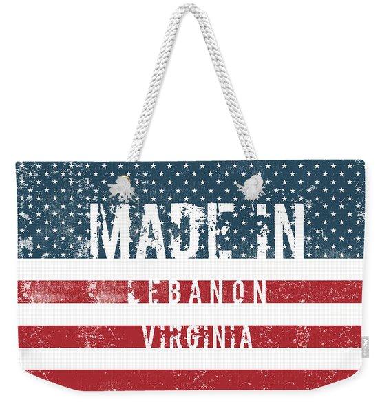 Made In Lebanon, Virginia Weekender Tote Bag