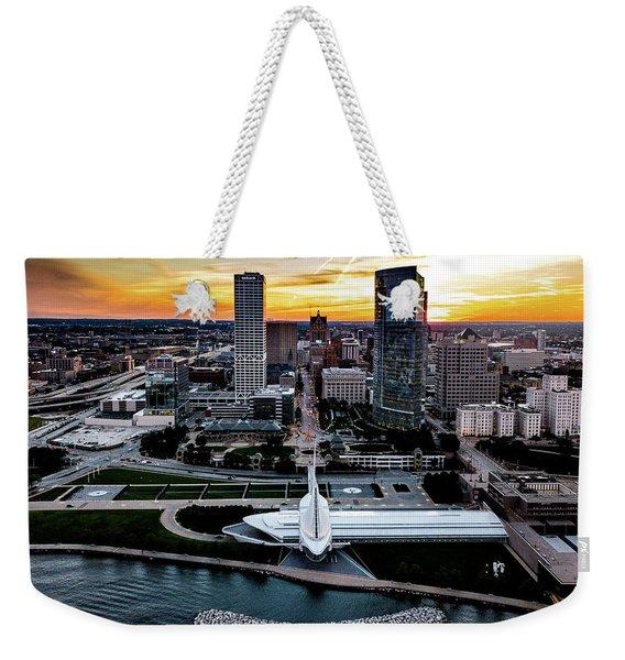 Milwaukee Sunset Weekender Tote Bag