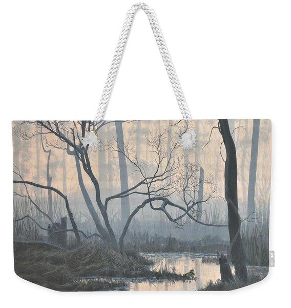 Misty Hideaway - Wood Duck Weekender Tote Bag