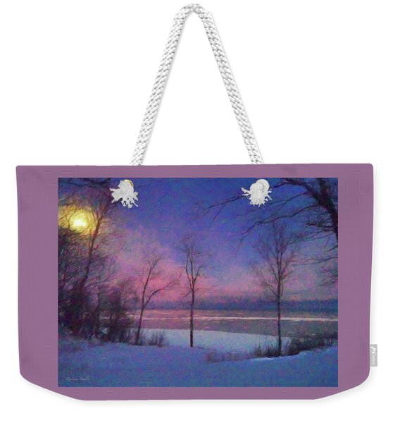 Moonset Weekender Tote Bag