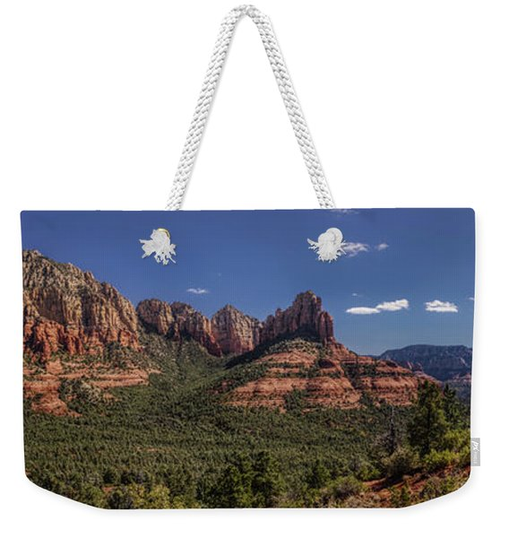Weekender Tote Bag featuring the photograph Mormon Canyon Panorama by Andy Konieczny