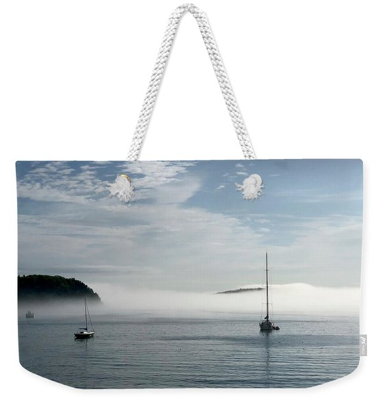 Morning Mist On Frenchman's Bay Weekender Tote Bag