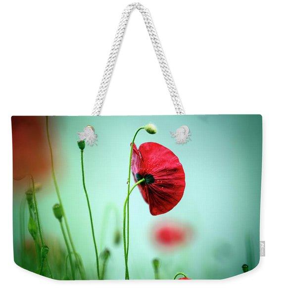Morning Poppy Flower Weekender Tote Bag
