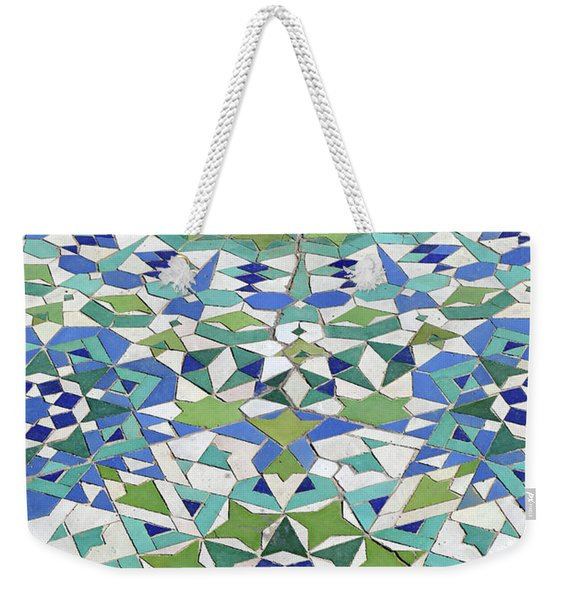 Mosaic Exterior Decorations Of The Hassan II Mosque Weekender Tote Bag