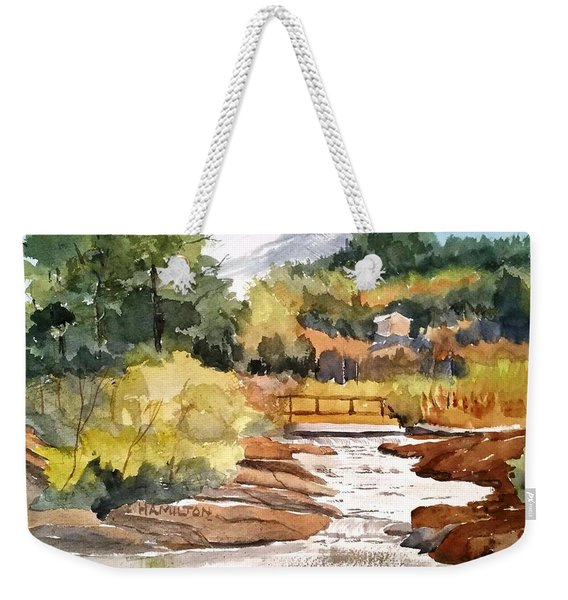Mountain Run Off Weekender Tote Bag