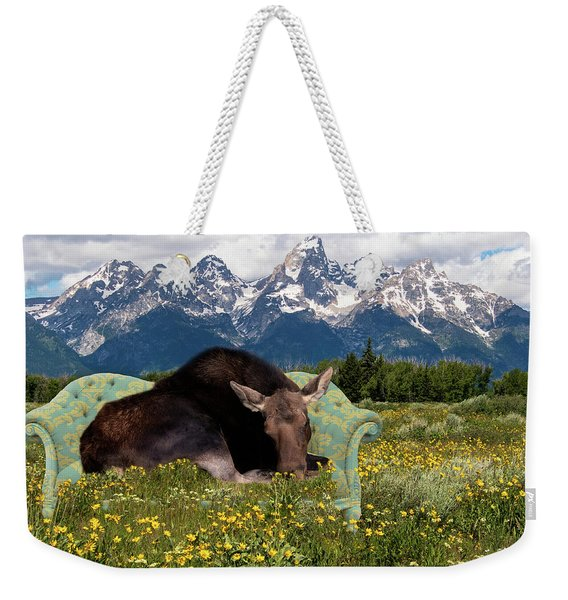 Nap Time In The Tetons Weekender Tote Bag