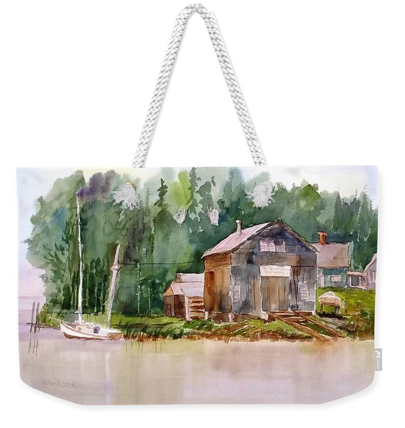 New England Boat Repair Weekender Tote Bag
