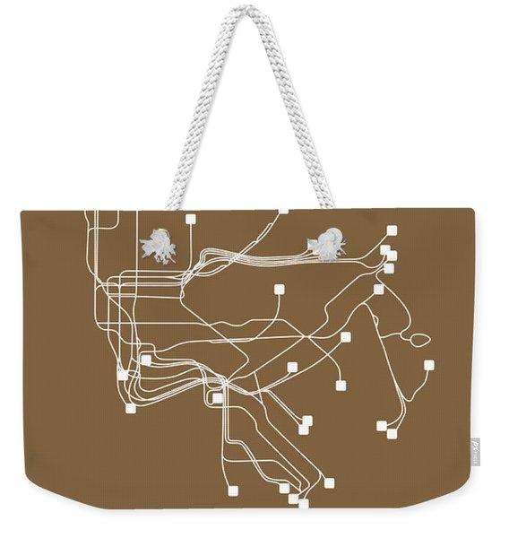 New York Subway Map I Weekender Tote Bag