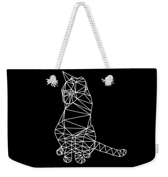 Night Cat Weekender Tote Bag