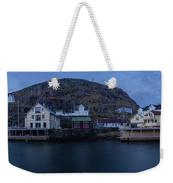 Norwegian Seaside Town Nyksund Weekender Tote Bag
