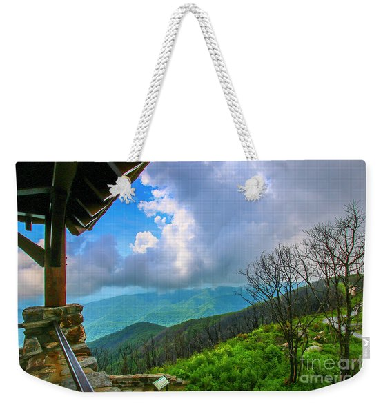 Weekender Tote Bag featuring the photograph Observation Tower View by Tom Claud