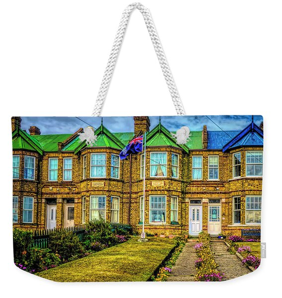 On A Street In Stanley Weekender Tote Bag