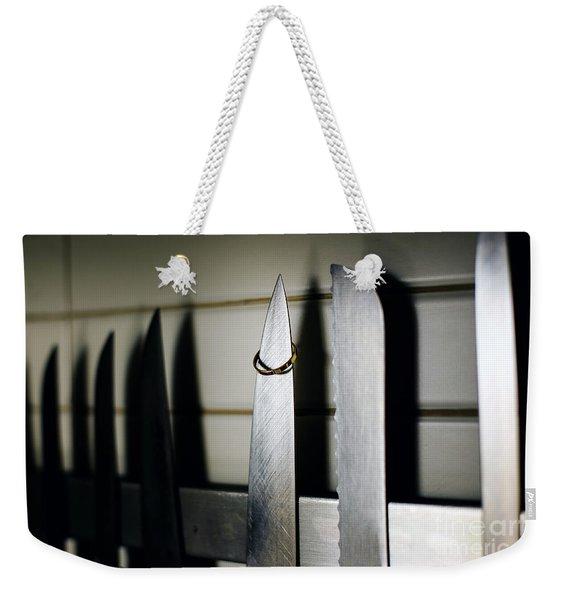 Pair Of Elegant Wedding Rings Weekender Tote Bag