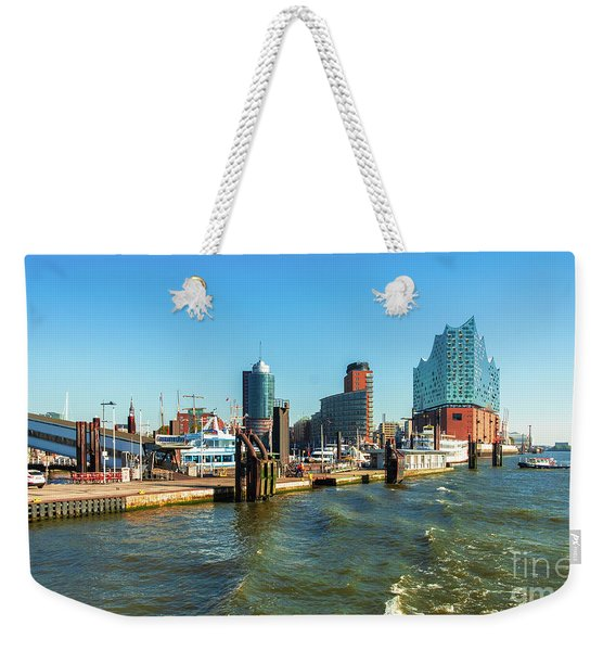 Panoramic View Of Hamburg. Weekender Tote Bag