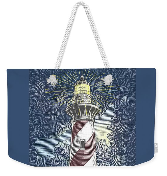 Weekender Tote Bag featuring the drawing Peace In The Storm by Clint Hansen