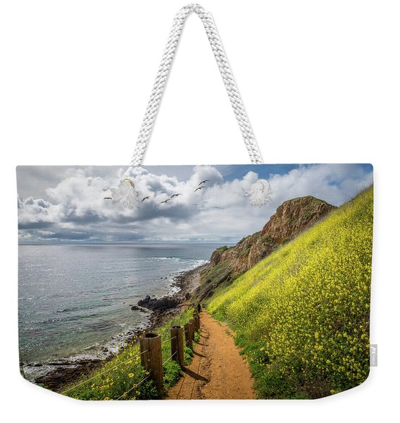 Weekender Tote Bag featuring the photograph Pelican Cove Super Bloom by Andy Konieczny