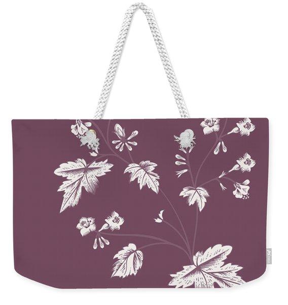 Phacelia Purple Flower Weekender Tote Bag