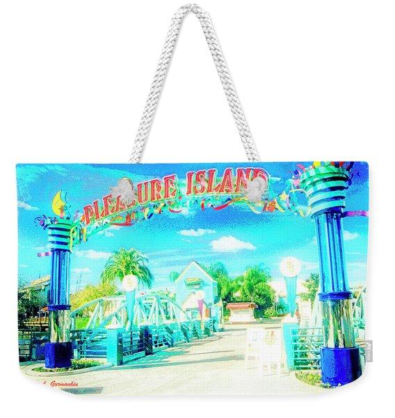 Pleasure Island Sign And Walkway Downtown Disney Weekender Tote Bag