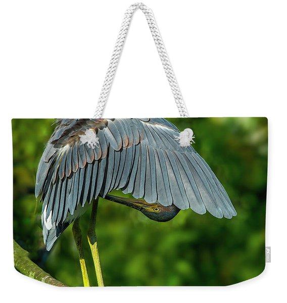 Preening Reddish Heron Weekender Tote Bag