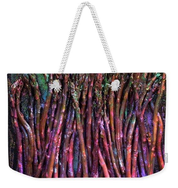 Purple Asparagus Weekender Tote Bag