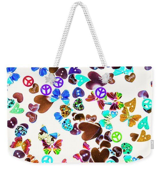 Rainbow Love Weekender Tote Bag